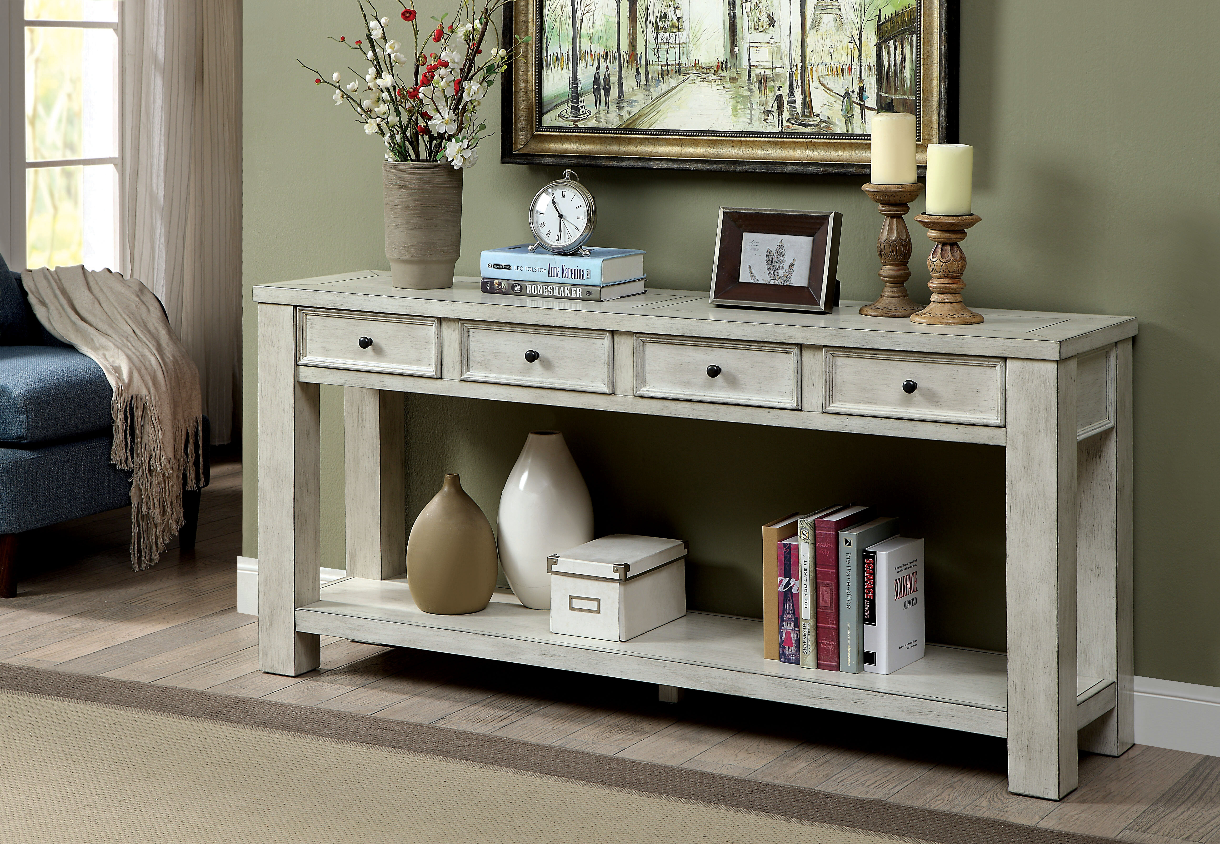 alcott hill janousek 64 solid wood console table alth8234