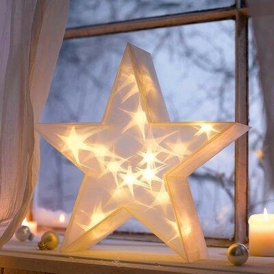Weihnachtsleuchte 20-flammig Stern 3D in Weiß | Weihnachten > Weihnachtsbeleuchtung | Bright Life