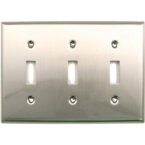 triple switch plate