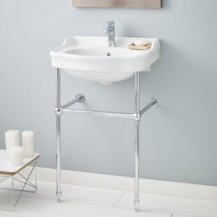 Savings Metal 23 Console Bathroom Sink with Overflow ByCheviot Products