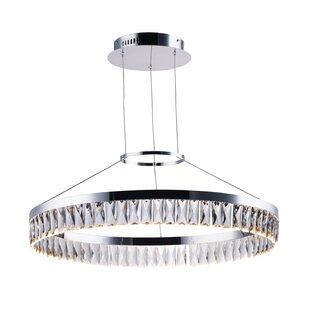 Blanton 1-Light Crystal Pendant by Mercer41