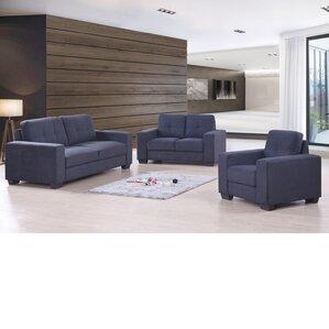three piece living room set. Aidy 3 Piece Living Room Set Modern Sets  AllModern