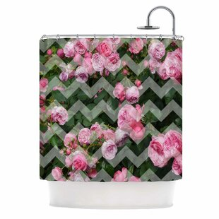 Chevron Rose Shower Curtain