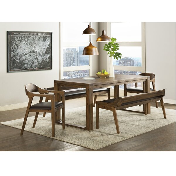 Bourgoin 5 Piece Drop Leaf Solid Wood Dining Set
