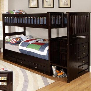 Trumble Twin Over Twin Bunk Bed with Drawers