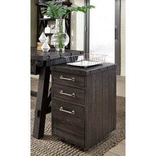Jorge Solid Pine Wood 3 Drawer Vertical Filing Cabinet by 17 Stories
