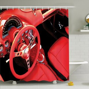 Vintage Sports Car Shower Curtain Set