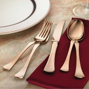 Refined Titanium 20 Piece Flatware Set, Service for 4