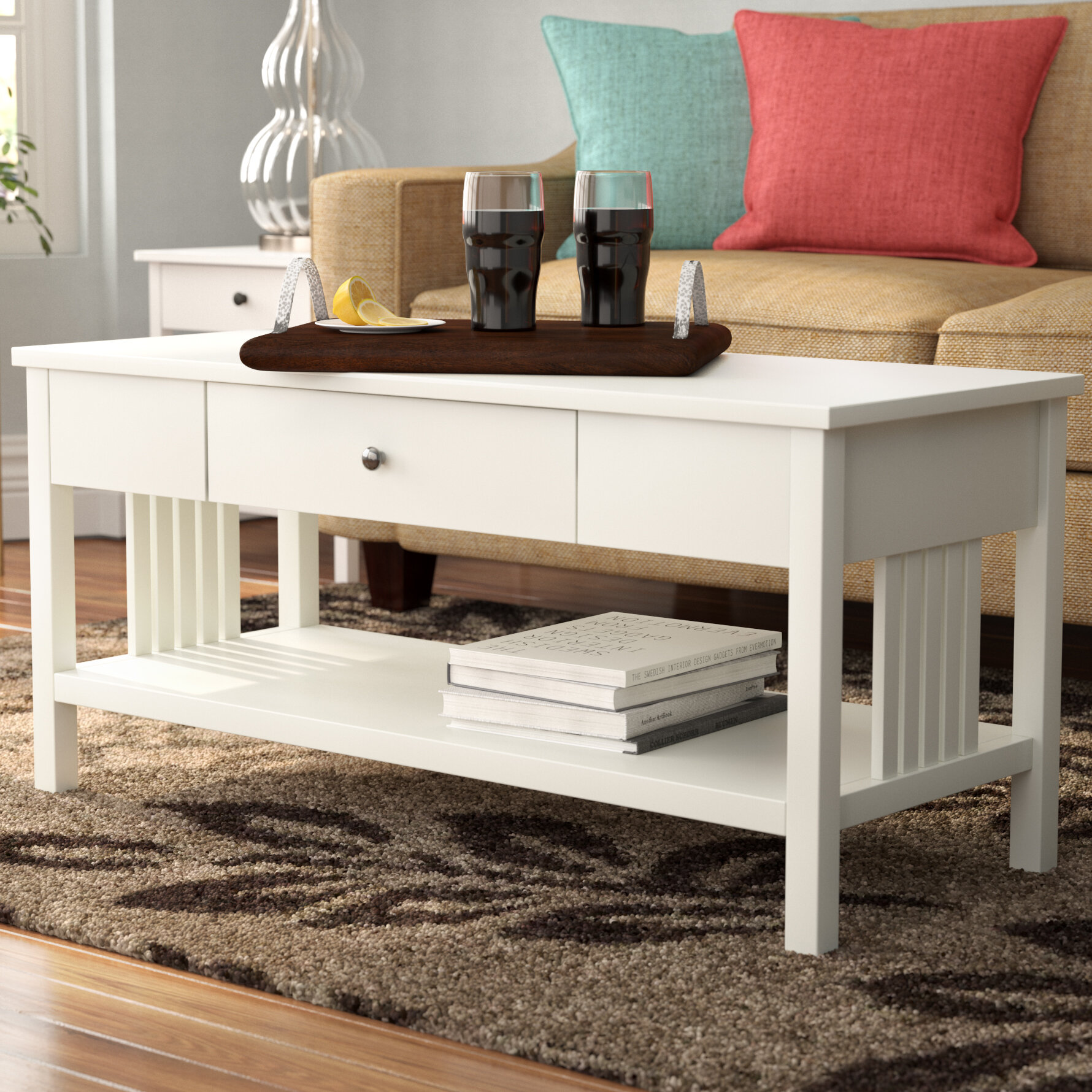Superieur Red Barrel Studio Bechtel Mission Style Wood Coffee Table U0026 Reviews |  Wayfair