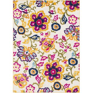 Affordable Avonmore Bright Yellow/Cream Outdoor Area Rug ByEbern Designs