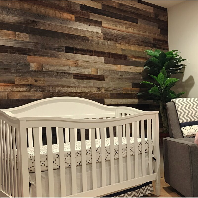 Plankandmill 3 Quot Reclaimed Peel And Stick Solid Wood Wall