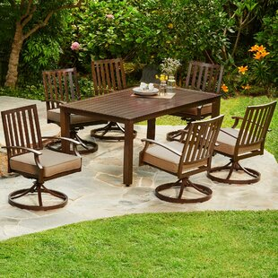 Yandel Bridgeport Motion 7 Piece Dining Set with Cushions