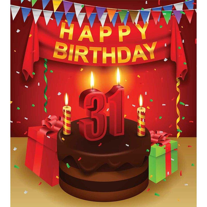 31st Birthday Decorations Duvet Cover Set
