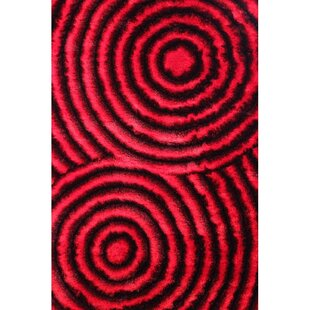 Inexpensive Shaggy 3D Red Area Rug ByRug Factory Plus