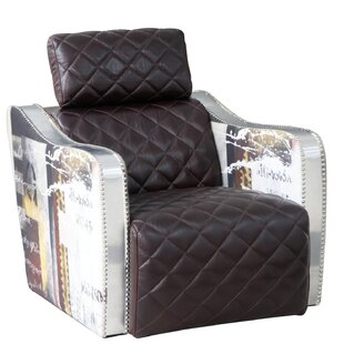 Lazzaro Leather Barnes Decoupage Lounge Chair