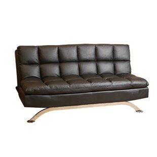 Orren Ellis Brookeville Leather Sleeper
