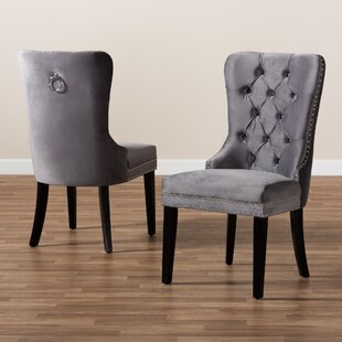 Buei Tufted Upholstered Wingback Parsons Chair Set of 2