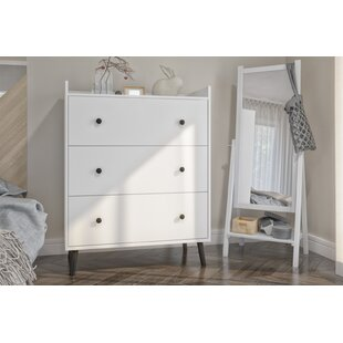 Cheneaux 3 Drawer Dresser by Ebern Designs