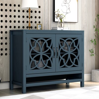 "Breakwater Bay Briarcliff 39"" Wide Pine Wood Serverr  Color: Blue"
