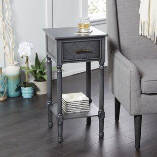 Devante Square Accent Table with Shelf