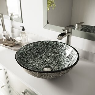 Best VIGO Glass Circular Vessel Bathroom Sink By VIGO