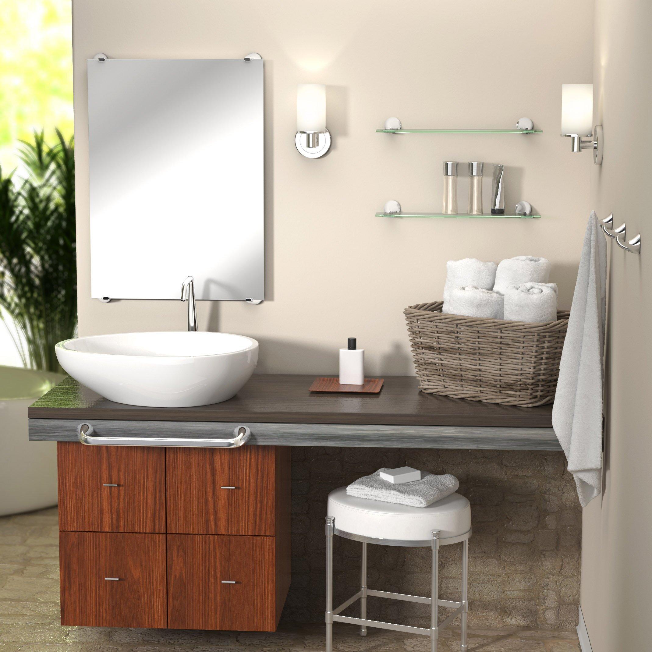 Gatco Brie Minimalist Wall Mirror Bathroom Vanity Mirror Reviews