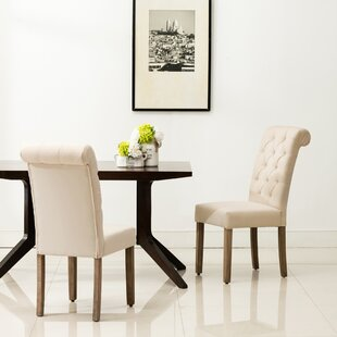 Bushey Roll Top Upholstered Dining Chair (Set of 2)