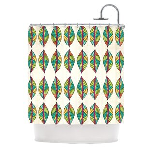 Tribal Leaves Single Shower Curtain