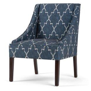 Simpli Home Hayworth Moroccan Slipper Chair