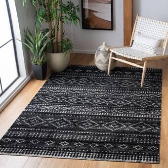 Bungalow Rose Florin Abstract Wool Green Black Indoor Outdoor Area Rug Reviews Wayfair
