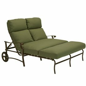 Montreux II Double Reclining Chaise Lounge With Cushion by Tropitone Great price