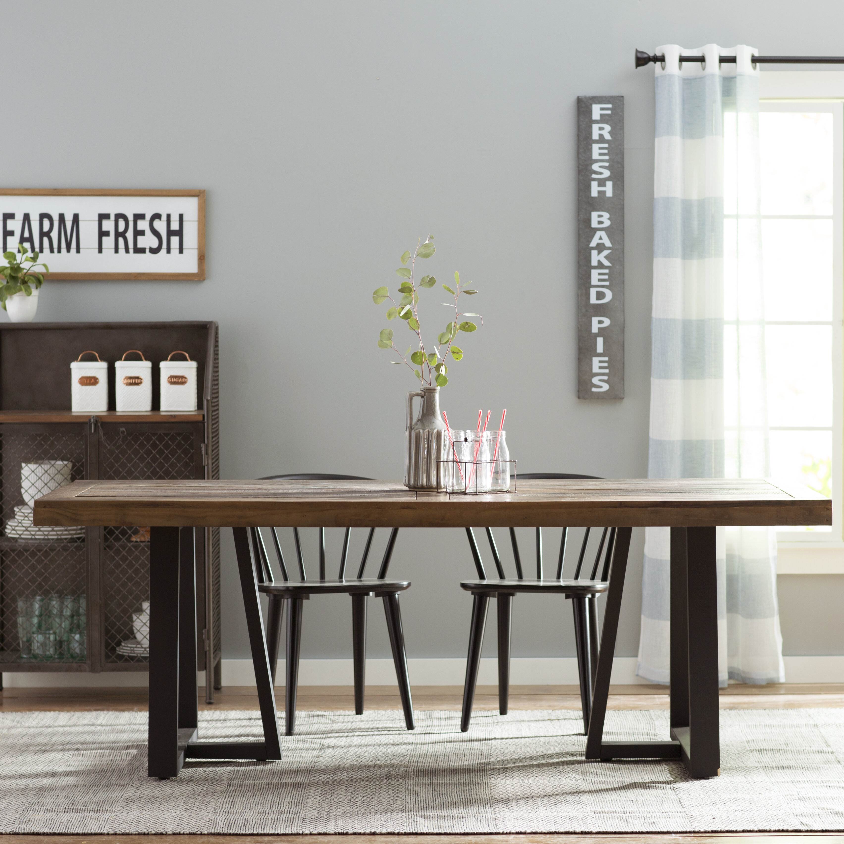 Anself Rectangular Dining Table Office