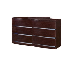 Orren Ellis Sanmiguel 6 Drawer Double Dresser