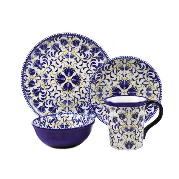 Lorren Home Trends Bimini Beaded 16 Piece Set Dinnerware Set Service for 4 u0026 Reviews | Wayfair  sc 1 st  Wayfair & Bimini Beaded 16 Piece Set Dinnerware Set Service for 4