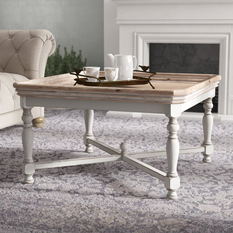 Ophelia Co Irwinton Square Shaped Wooden Coffee Table Reviews Wayfair