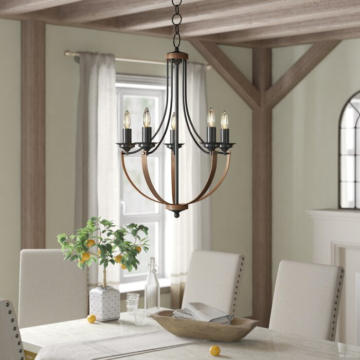 Kenna 5 Light Candle Style Empire Chandelier