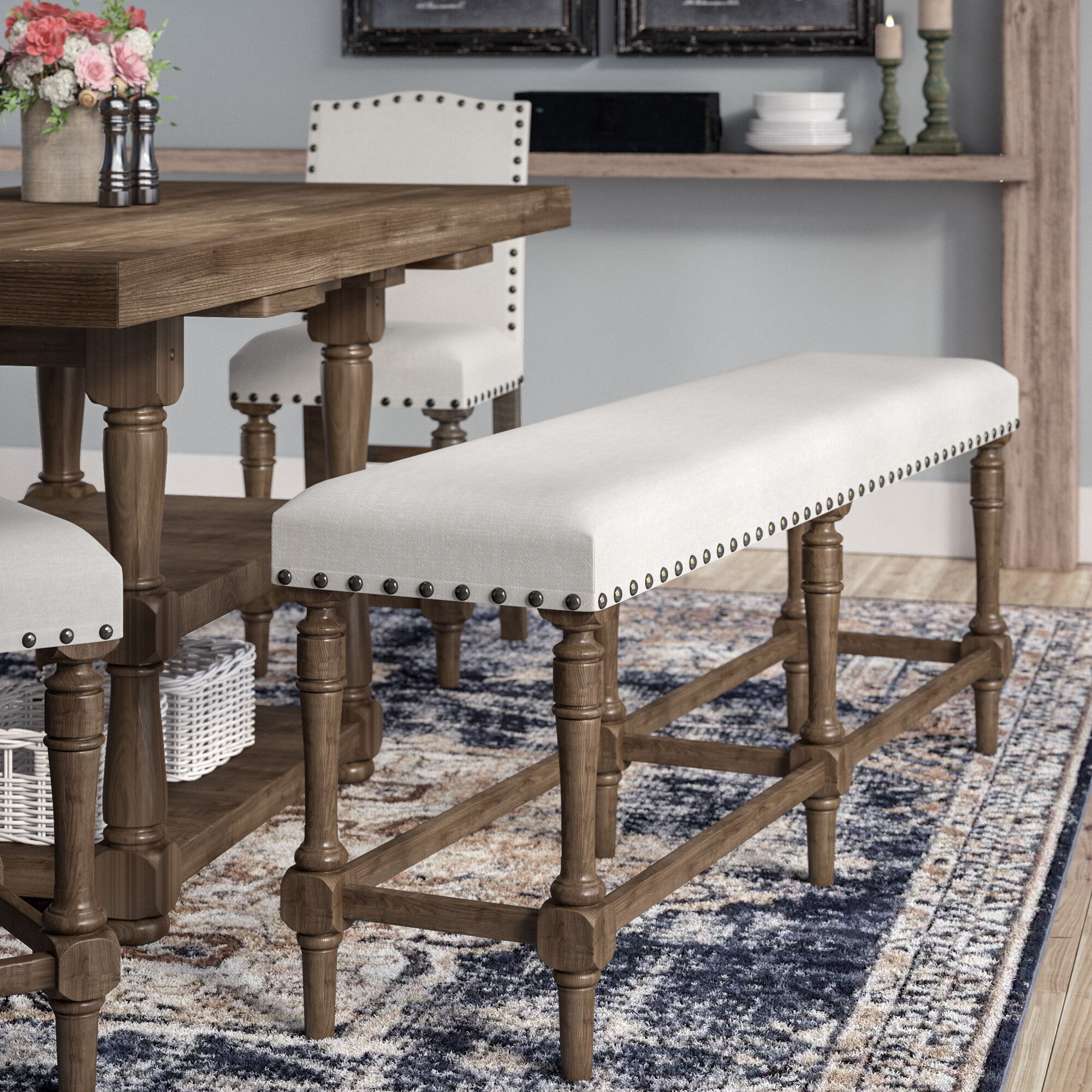 Laurel Foundry Modern Farmhouse Fortunat Upholstered Bench Reviews