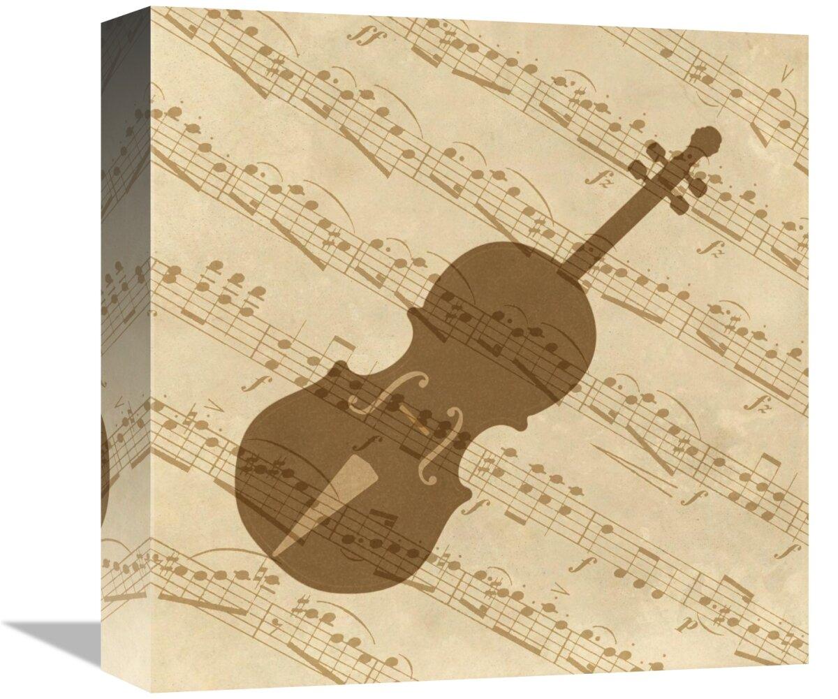 East Urban Home Music \'Violin\' Graphic Art Print on Canvas | Wayfair