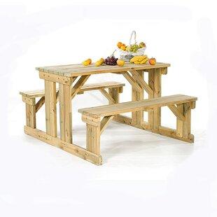 Melton Mowbray Wooden Picnic Bench By Sol 72 Outdoor