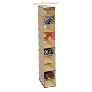 Affordable Natural Canvas Storage 10 Shelf Open-Front Shoe Organizer ByRichards Homewares