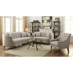 Alcott Hill Hayhurst 3 Piece Living Room Set