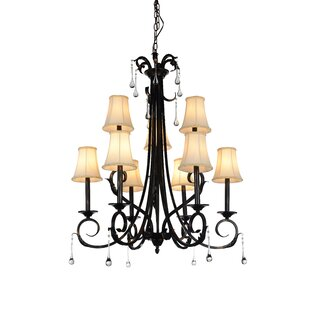 CWI Lighting Marilyn 9-Light Shaded Chandelier
