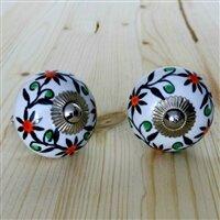 Handpainted Ceramic Round Knob