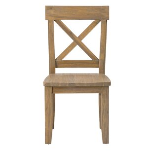Pittson Estates Ridge Solid Wood Dining Chair (Set of 2) by Loon Peak