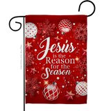 Jesus Is the Reason Impressions Decorative 2-Sided Polyester 19 x 13 in. Garden Flag