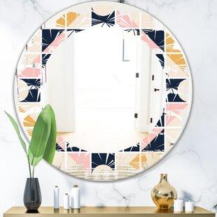 Leaves Geometrical Design I Modern Frameless Wall Mirror by East Urban Home