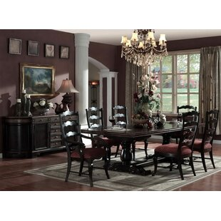 Lorraine Rectangular Extendable Solid Wood Dining Table (Set of 4)