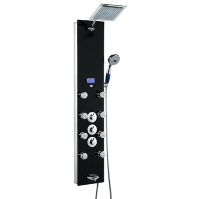 AKDY Tower Rainfall Diverter Adjustable Shower Panel with Temperature Memory