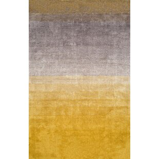 yellow gold rug living room toth handtufted yellow area rug modern gold rugs allmodern
