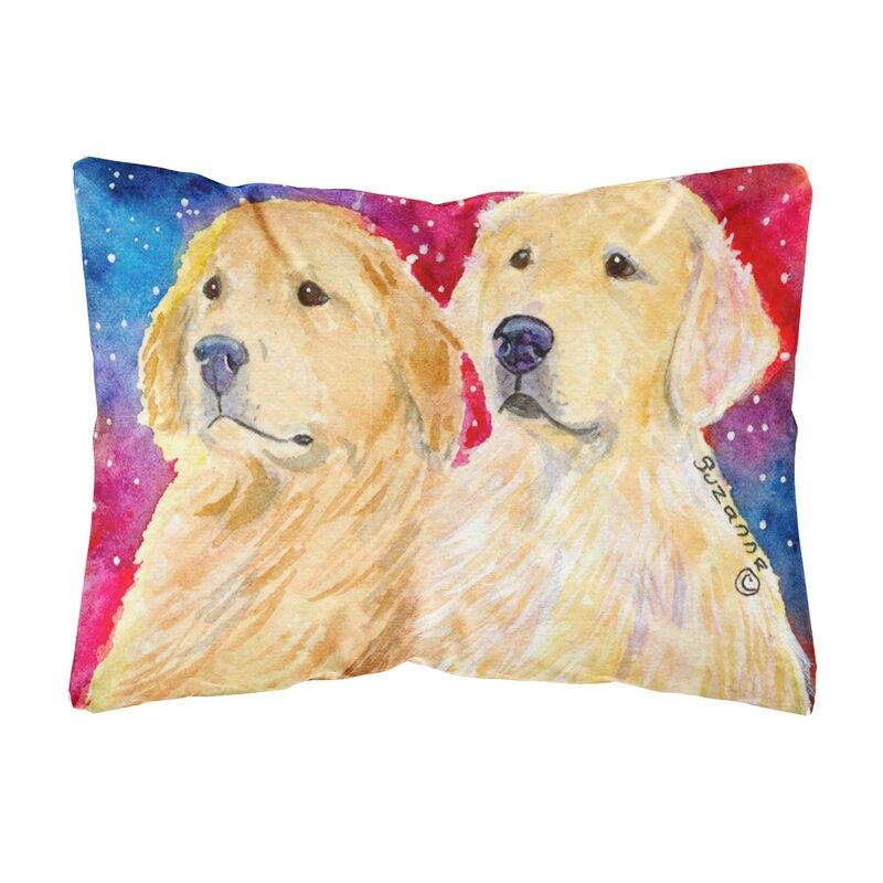 East Urban Home Golden Retriever Indoor Outdoor Throw Pillow Reviews Wayfair